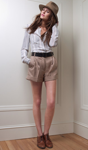 Lexi Shirt ($119), Jacqueline Winter Shorts ($119), Reese Fedora