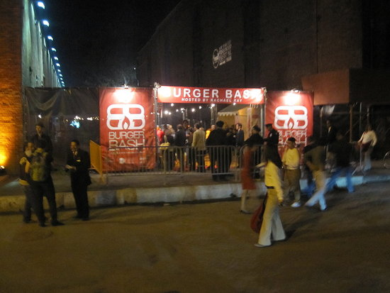 On Friday night, I went to the festival's most popular event, Rachael Ray's Burger Bash.