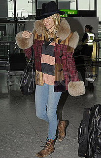 Pictures of Sienna Miller at Airport