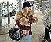 Slide Picture of Sienna Miller Leaving Heathrow Airport in London