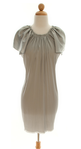 Lanvin Airy Silk Pleated Dress ($300)