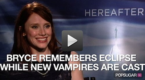 Video of Bryce Dallas Howard Talking About Eclipse and New Breaking Dawn Vampires