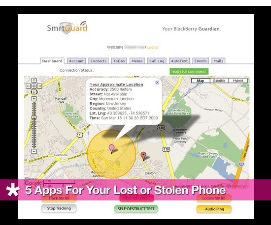 5 Apps For Lost or Stolen Phones