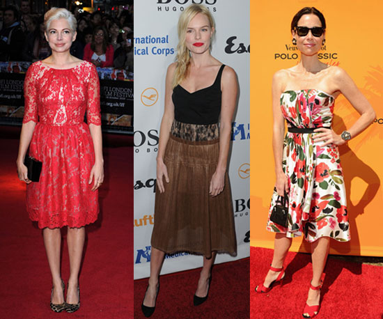 Behold Longer Hemlines — Celebs Skip Sexy For Ladylike