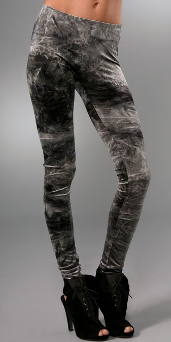 Nightcap Clothing Tie Dye Velvet Leggings ($150)
