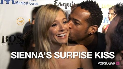 Video of Sienna Miller Getting Kissed on the Red Carpet at the Esquire House 2010-10-18 12:21:49