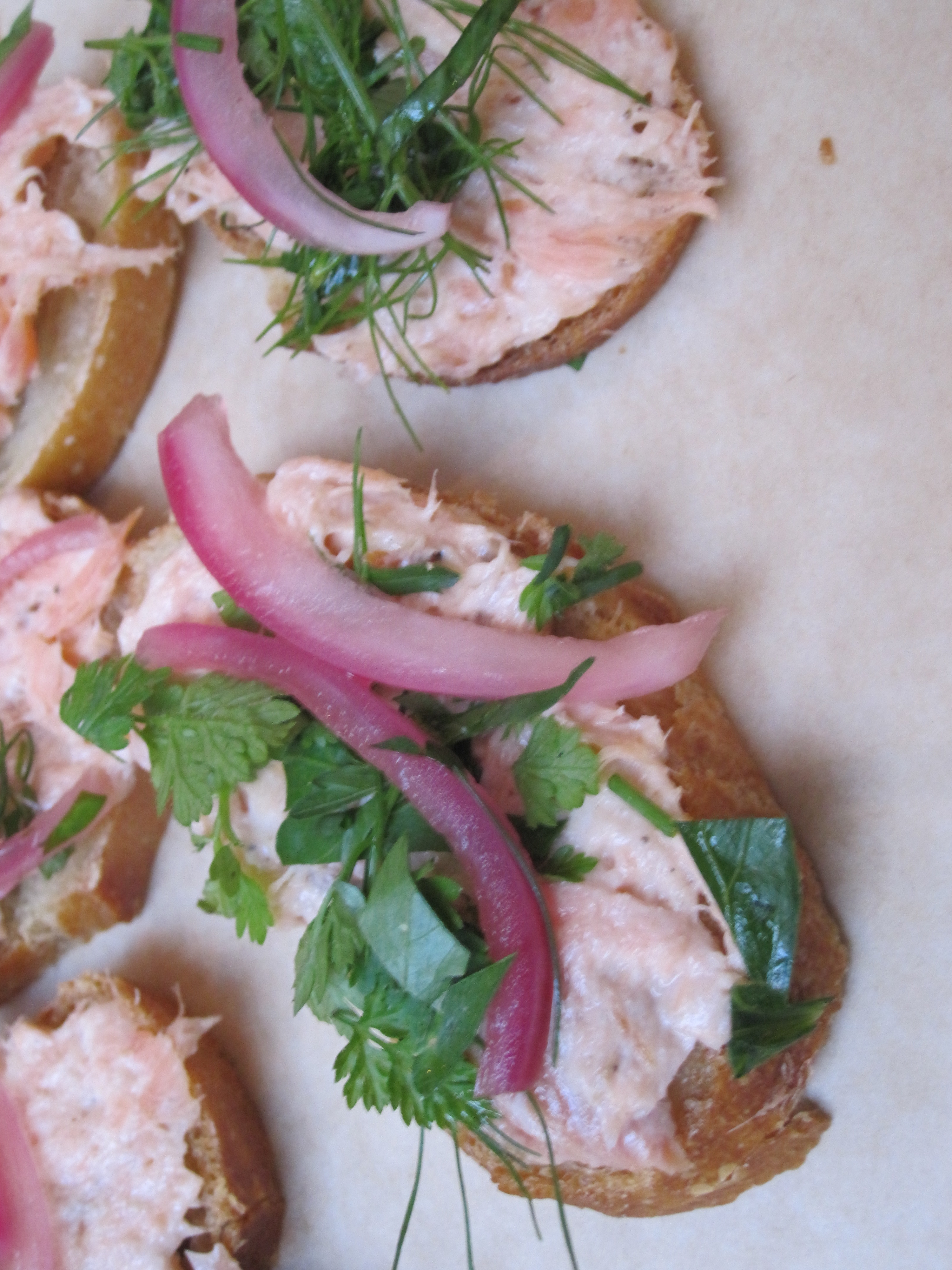 Hog and Rocks served a scrumptious smoked fish crostini.