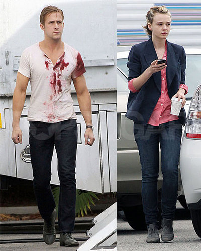 Pictures of Carey Mulligan and Ryan Gosling on the Drive Set in LA