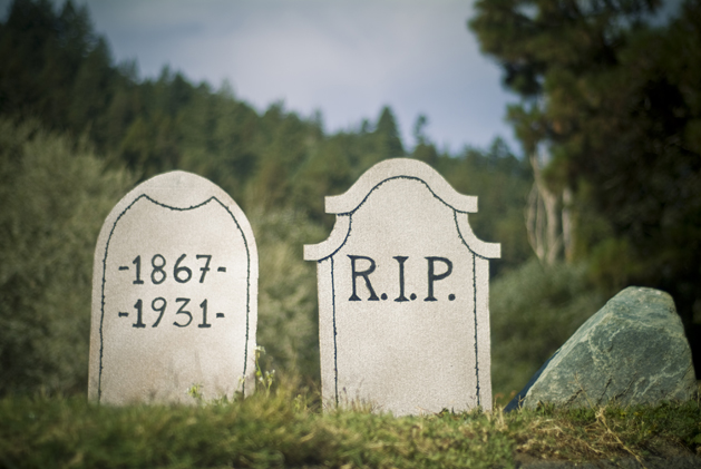 Add some tombstones to your front yard for some seasonal curb appeal.