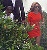 Pictures of Possibly Pregnant Beyonce Knowles at Lunch in Miami With Husband Jay-Z