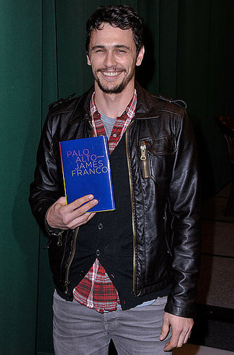 Pictures of James Franco Showing Off His Book Of Short Stories Palo Alto In New York