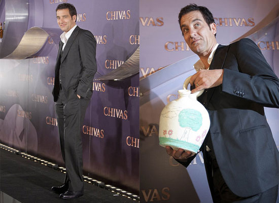 Clive Owen Promotes Chivas Regal in Spain with Eugenia Silva