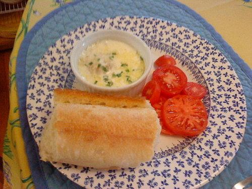Oeufs en Cocotte (Baked Eggs in Cream)