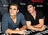 Pictures of Paul Wesley and Ian Somerhalder Greeting Fans in Miami