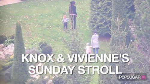 Video of Knox and Vivienne Jolie-Pitt Walking in Budapest