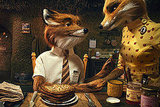 Mr. and Mrs. Fox, <b>Fantastic Mr. Fox</b>
