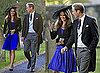 Prince William and Kate Middleton at Harry Meade and Rosie Bradford's Wedding
