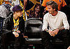 Pictures of Denzel Washington, David Beckham, Jaden Smith, Justin Bieber at a Lakers Game