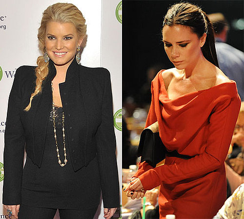 Jessica Simpson and Victoria Beckham at the 2010 Women's Conference