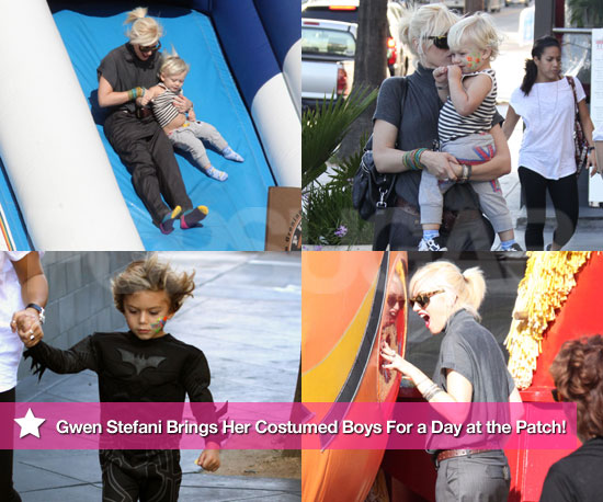 Pictures of Gwen Stefani Picking Pumpkins With Kingston Rossdale and Zuma Rossdale