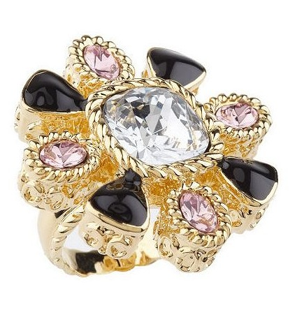 Rachel Zoe Goldtone Radiant Flower Ring ($35)