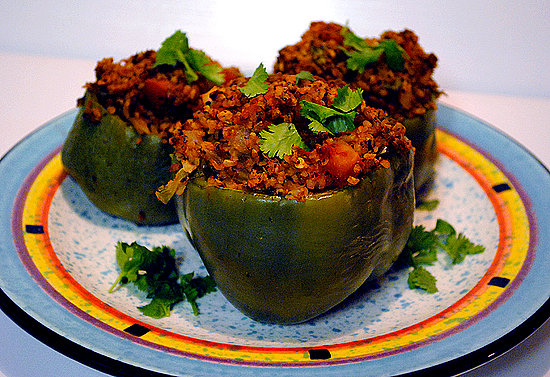 Vegan Bulgur Stuffed Peppers