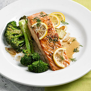 Citrus Salmon With Broccoli Recipe