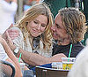 Pictures of Kristen Bell and Dax Shepard Kissing at Coffee With Justin Long