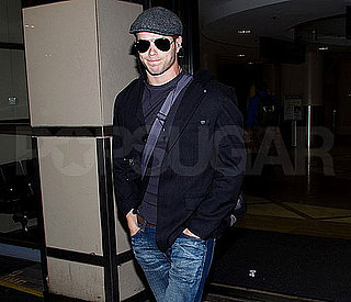 Pictures of Kellan Lutz Flying Into LAX on a Break From Breaking Dawn