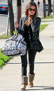 Pictures of Rachel Bilson Toting an Oversized Bag in Santa Monica