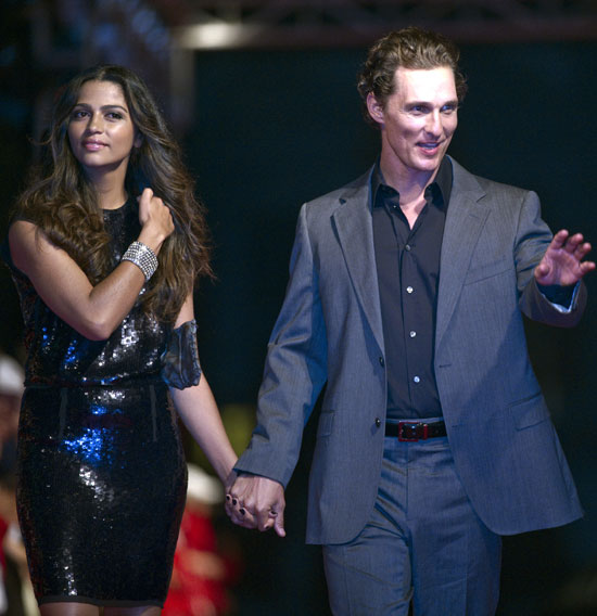 Matthew McConaughey, Camila Alves, Christian Slater, Hugh Grant at China Golf Tournament
