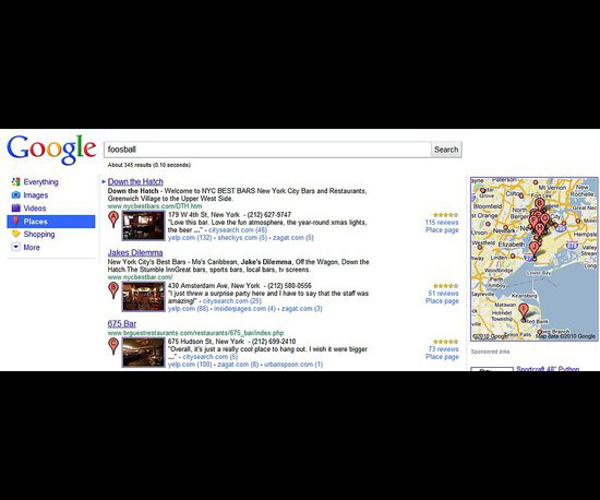 Google Introduces New Place Search