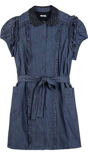 Miu Miu - DETAILED DENIM DRESS