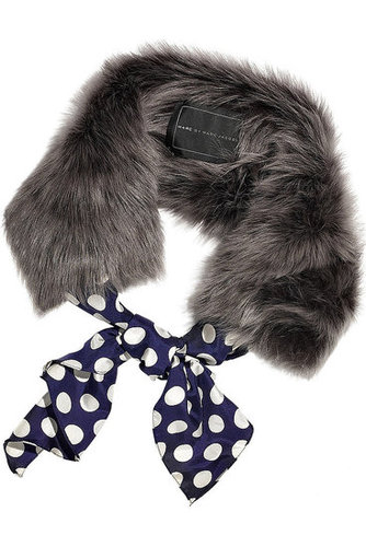 Marc by Marc Jacobs-Cheeky faux-fur scarf