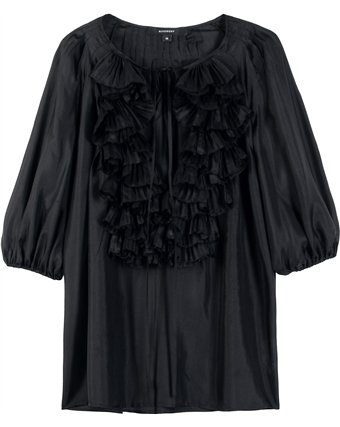 Givenchy - SILK RUFFLE FRONT BLOUSE