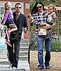 Pictures of Ben Affleck and Jennifer Garner With Violet and Seraphina in LA