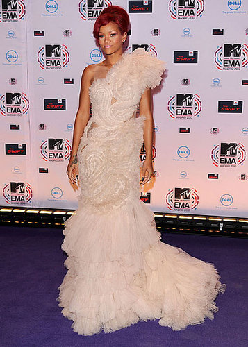Pictures of Rihanna at MTV EMAs Red Carpet