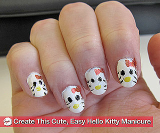 How to Create a Hello Kitty Manicure