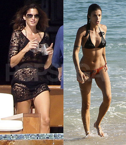 Pictures of Cindy Crawford and Elisabetta Canalis in Bikinis While in Mexico