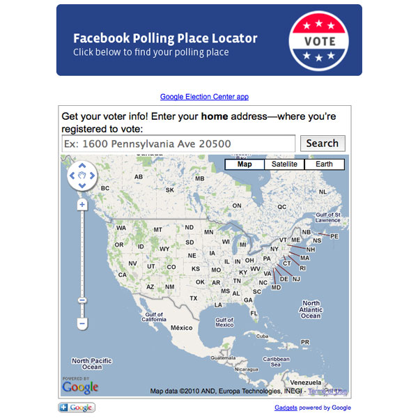 Facebook Polling Place Locator