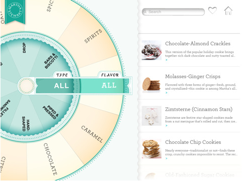 Photos of Martha Stewart Makes Cookies App