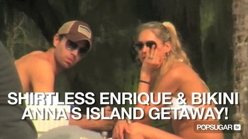 Video of Enrique Iglesias Shirtless and Anna Kournikova in a Bikini in Hawaii 2010-11-01 10:27:39