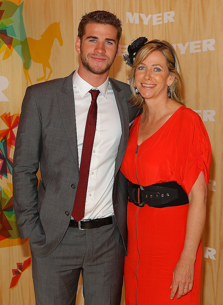 Liam Hemsworth brought to his Mum to the Cup: cute!