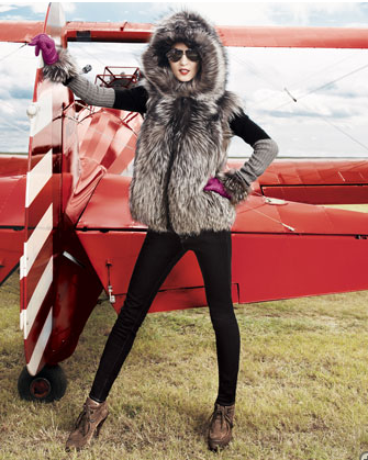 This Byte by Teso Suede & Fur Vest ($2,750), is fuzzy, furry, and the ultimate cold-weather topper.