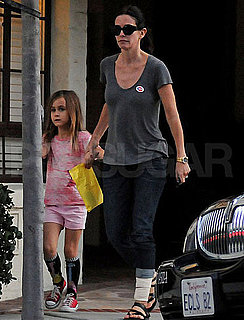 Pictures of Courteney Cox and Coco Arquette in LA