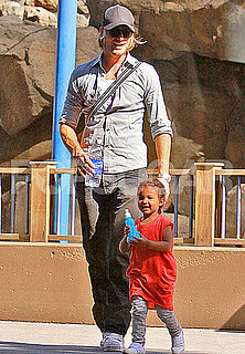 Pictures of Gabriel Aubry and Nahla at Park in LA