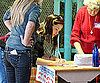 Slide Picture of Jennifer Garner Voting in LA