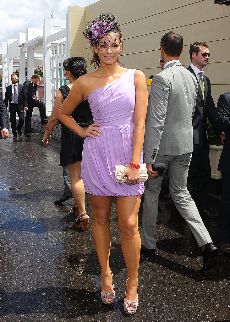 Ricki-Lee Coulter looks a picture in lilac.