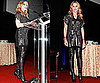Photo of Madonna in Over the Knee Boots at 5th Annual Fashion Delivers Gala
