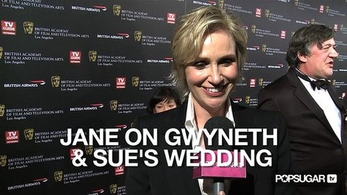 Video of Jane Lynch Talking About a Sue Sylvester Wedding on Glee 2010-11-05 12:45:00